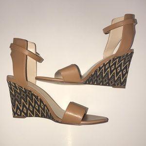 Nine West Shoes - EUC Nine West | Brown Aztec print wedges